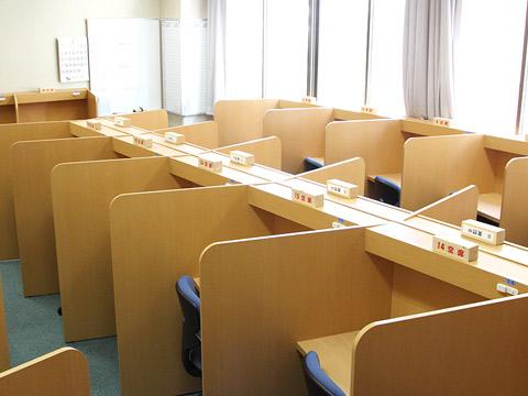 広々とした自習室