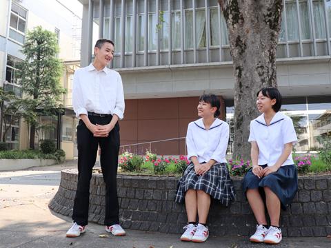共学化したばかりですが男女の垣根は低く、和気あいあいとした学校生活を送っています。