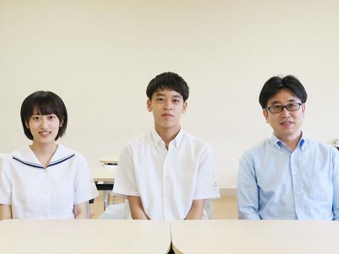 (左から)遠藤優花さん(高校3年生)、遠藤結太くん(中学2年生)、遠藤豊さん(父)