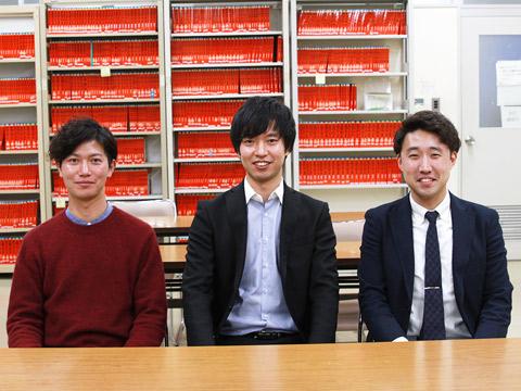谷田部先生、勝田先生、新妻先生