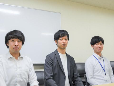 (左から順に)新妻先生、勝田先生、谷田部先生