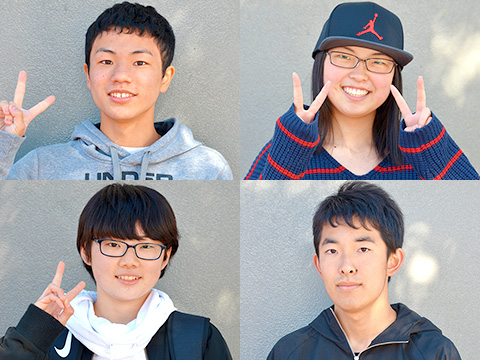藤原くん、青木さん、中村さん、仲西くん
