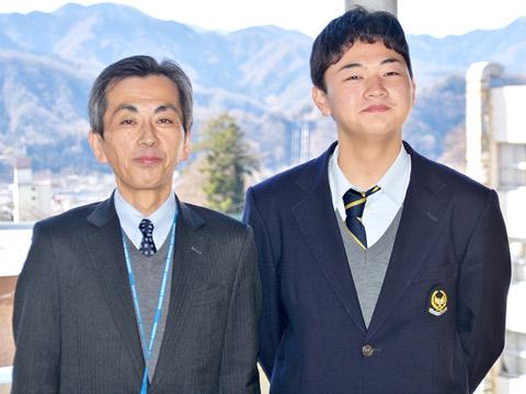 数学科の中川先生と旦くん