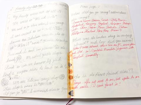 細川さんが毎日書いている英語日記。留学期間中から毎日欠かさず書き続けており、現在は3冊目に突入。