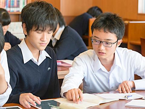 探究学習により、生徒が自分で深く考える力を伸ばしていきます。