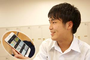 文化祭のアプリを開発した鈴木くん