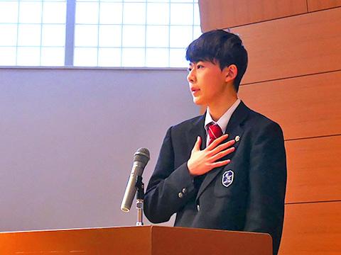 毎年2月に行われる英語スピーチコンテストなど、アウトプットの場も豊富。