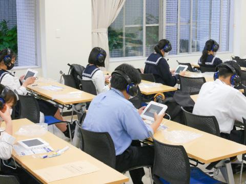 英語難関クラスで行われたGTEC対策の授業