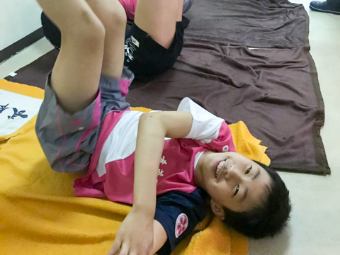 武蔵野の競技水泳部の一員として活躍するAくん。部活が大好きで、毎日楽しく練習に参加しているそうです。