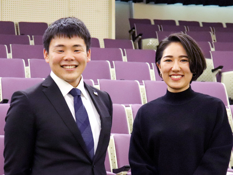 インタビューに答えてくださった櫛田智史さん(左)と中村美南さん。