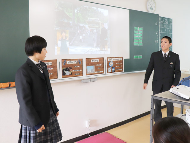 普段の授業風景 英語でプレゼンテーション