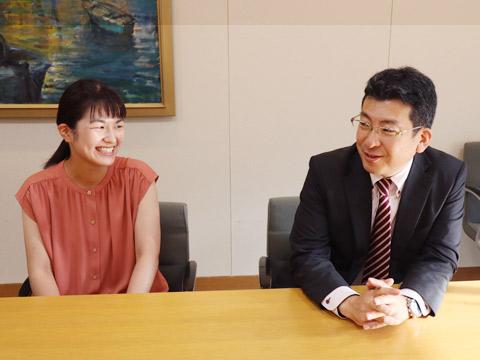 江藤先生と岡崎さん