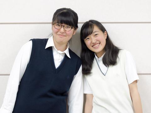 左:山本さん、右:中園さん。2人ともNゼミの存在が入学の決め手だったそう。