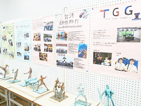 生徒が制作した作品やポスター