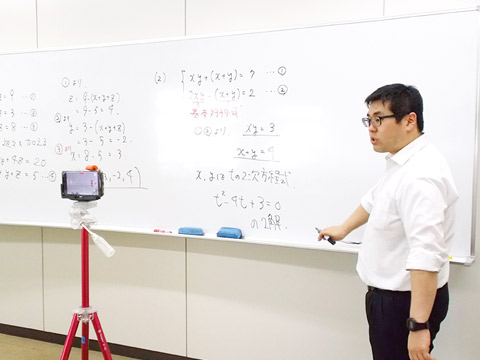 オンライン授業動画の制作風景