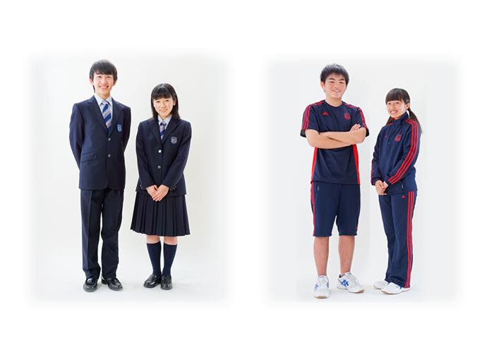 高校制服とスポーツウェア