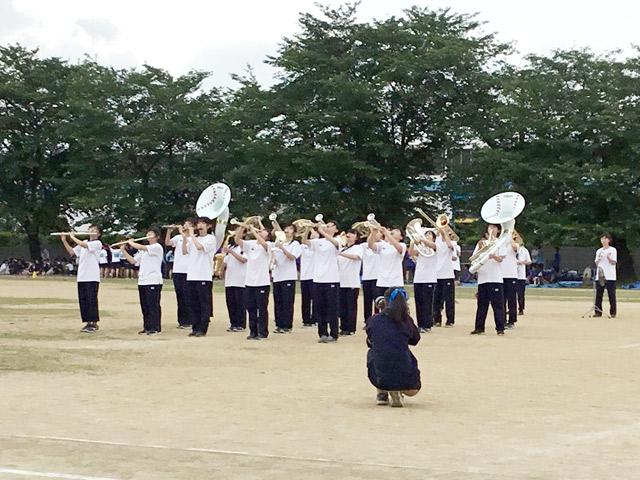 体育祭 休憩時間の吹奏楽部による演奏