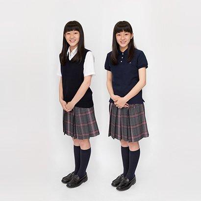 高等学校 夏服 女子