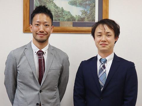 数学科の寺尾先生(左)と理科・化学ご担当の見上先生