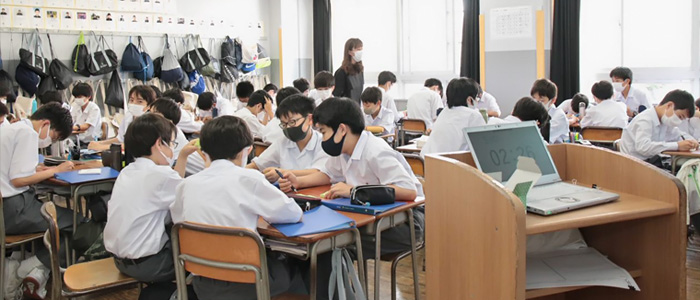 """""""人間教育の芝""""の新たな一歩 新教科総合的な学習・探究の時間がスタート"""