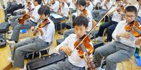 和太鼓にバイオリン! 実技メインの音楽授業に潜入!