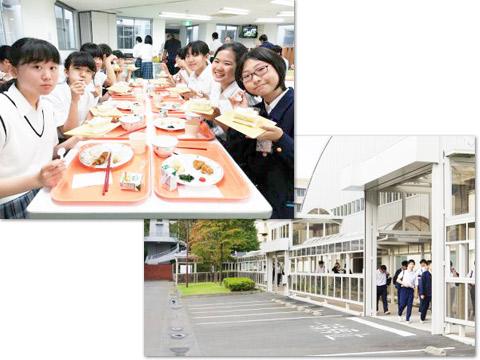 学校で過ごす生徒たち