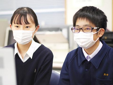 剣道部で入寮6年目の宮地さんと、卓球部で入寮して半年になる角田くん