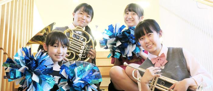 吹奏楽部の生徒達