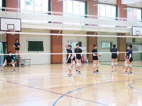 淑徳SCでは最も部員数が多いバレーボール部。中学生チームは東京都大会で第3位、高校生チームは関東大会出場通算36回目を誇る実力のある部です。