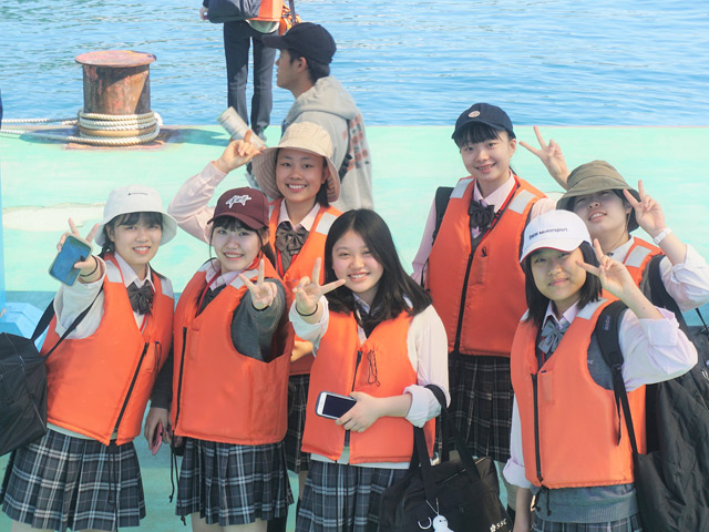 修学旅行高2の修学旅行では軍艦島にも行きました。
