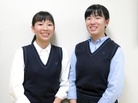 「また留学したい!」と意気込む小林さん(左)と佐藤さん(右)