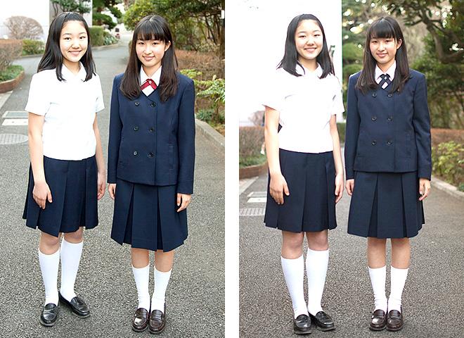 中学校制服(右)/高校制服(左)