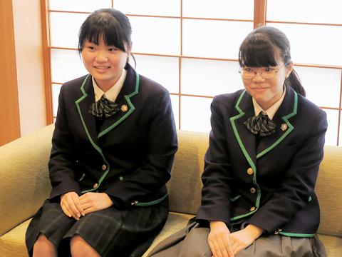 左:佐藤花音さん 右:兒玉知咲さん