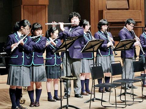 中学3年生のコンサートの様子