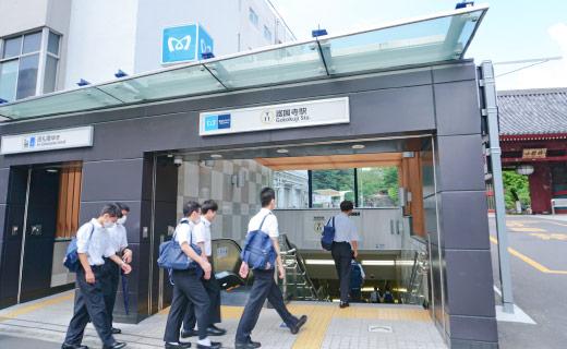 東京メトロ有楽町線「護国寺駅」1番出口