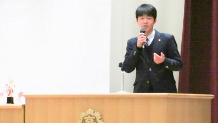 毎年2月に行われる東洋大京北のスピーチコンテスト