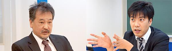 お茶の水ゼミナール教務部長 西川芳孝氏(左)、お茶の水ゼミナール教務部 英語科 池谷理一郎氏(右)