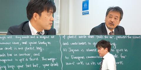 取り組みについて語る西川氏、池谷氏、授業中の池谷氏