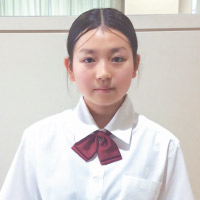 杉本 由貴さん 中学1年生
