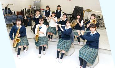 吹奏楽部の活動のようす