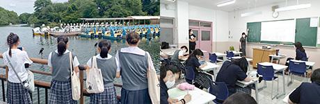 中学「井之頭公園の四季と動植物」ゼミ・舞台表現ゼミ