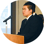 英文原稿によるスピーチ・プレゼンテーションのコンテスト。スライドも生徒自身が作成します。