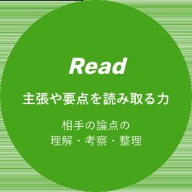 Read 主張や要点を読み取る力 相手の論点の理解・考察・整理
