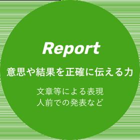 Report 意思や結果を正確に伝える力 文章等による表現 人前での発表など