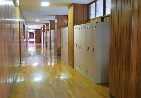木をふんだんに使った校舎