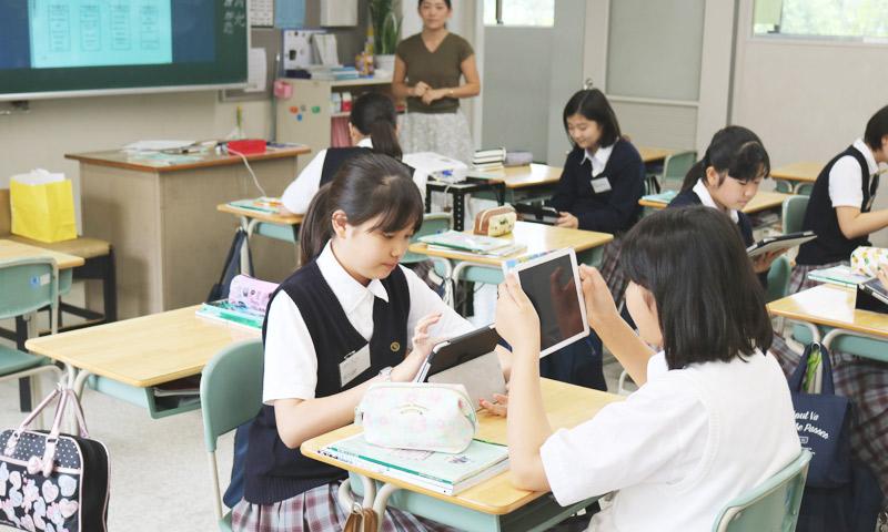 東京女子学園中学校・高等学校の授業のようす07
