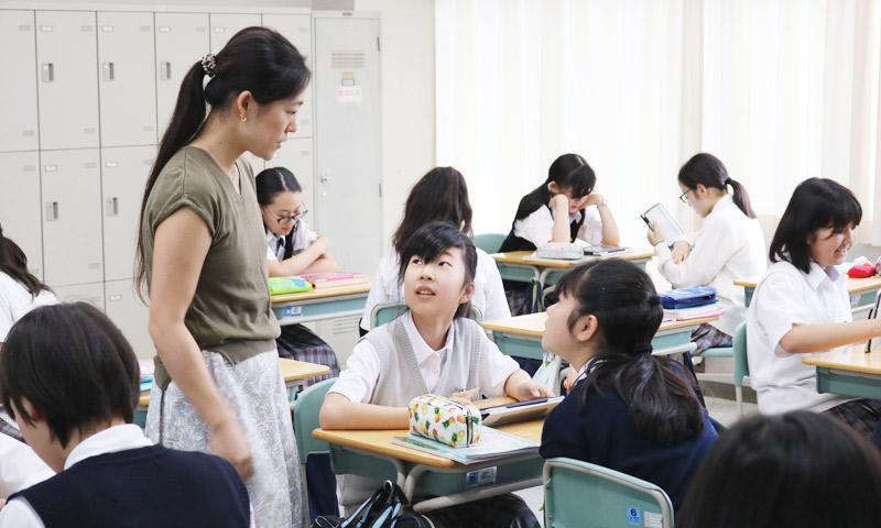 東京女子学園中学校・高等学校の授業のようす08