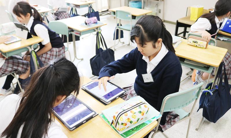 東京女子学園中学校・高等学校の授業のようす09