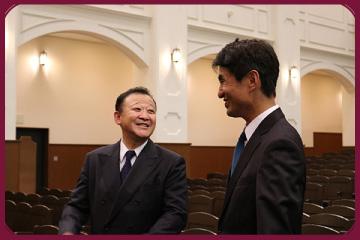 石澤先生、武藤先生 対談の様子