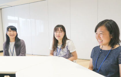 山口さん、岡田さん、梅木さん